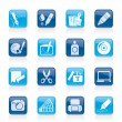Graphic and web desing icons - Stockvectorbeeld