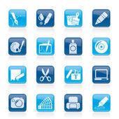 Grafica e web desing icone — Vettoriale Stock