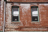 Lampen in de windows — Stockfoto