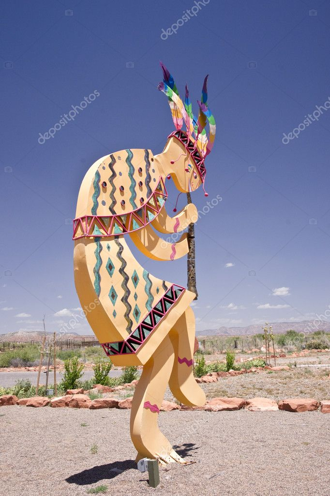 The Native American spirit of Kokopelli, god of fertility — Stock Photo #10790890