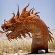 Snarling Desert Serpent - Stock Photo