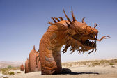 Dragon in the Sand — Stock Photo