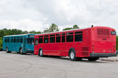 Dueling Buses — Stock Photo