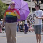 Salt Lake City, Utah - June 3: Pride Parade participants marchin — Stock Photo #10996245