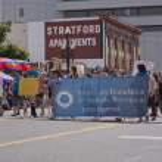 Salt Lake City, Utah - June 3: Pride Parade participants marchin — Stock Photo #10996271