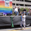 Salt Lake City, Utah - June 3: Pride Parade participants marchin — Stok fotoğraf