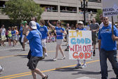 Salt Lake City, Utah - June 3: Atheists of Utah members marching — Stock Photo