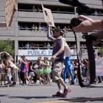 Salt Lake City, Utah - June 3: Pride Parade participants marchin — Stock Photo #11117707