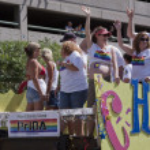 Salt Lake City, Utah - June 3: Pride Parade participants marchin — Stock Photo #11117718