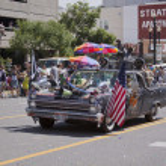 Salt Lake City, Utah - June 3: Pride Parade participants marchin — Stock Photo #11117744