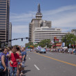 Salt Lake City, Utah - June 3: Pride Parade participants marchin - Stock Photo