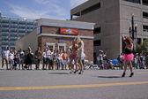 Salt Lake City, Utah - June 3: Pride Parade participants marchin — Stock Photo