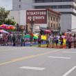 Salt Lake City, Utah - June 3: Pride Parade participants marchin — Stock Photo #11348996