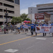 Stock Photo: Salt Lake City, Utah - June 3: Atheists of Utah members marching