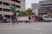 Salt Lake City, Utah - June 3: Pride Parade participants marchin — Stock Photo