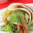 Vegetarian wrap sandwich — Stock Photo
