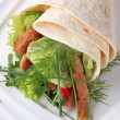 Stock Photo: Vegetarian wrap sandwich