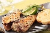 Pan fried mackerel — Stock Photo