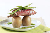 Pork ribs and potatoes — Stock Photo