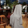 Throw draped over antique chair — Stock Photo #11245639