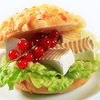 Cheese sandwich - Foto de Stock