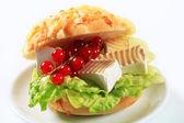 Cheese sandwich — Stock Photo