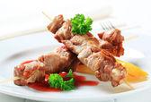Pork kebabs — Stock Photo
