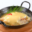 Stock Photo: Fish fillets with Hollandaise sauce