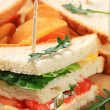 Vegetable Sandwiches and crisps — Stock Photo #11994045