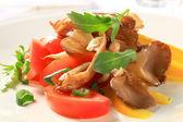 Oyster mushroom salad — Stock Photo
