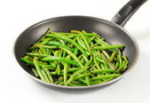 Stir-fried green beans — Stock Photo