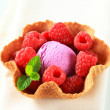Fruit ice cream dessert — Foto de Stock