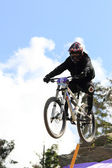 Downhill race — Stock Photo