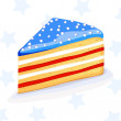 Vector cake in american style — Stock Vector
