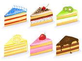 Vector cake collection — Stock Vector