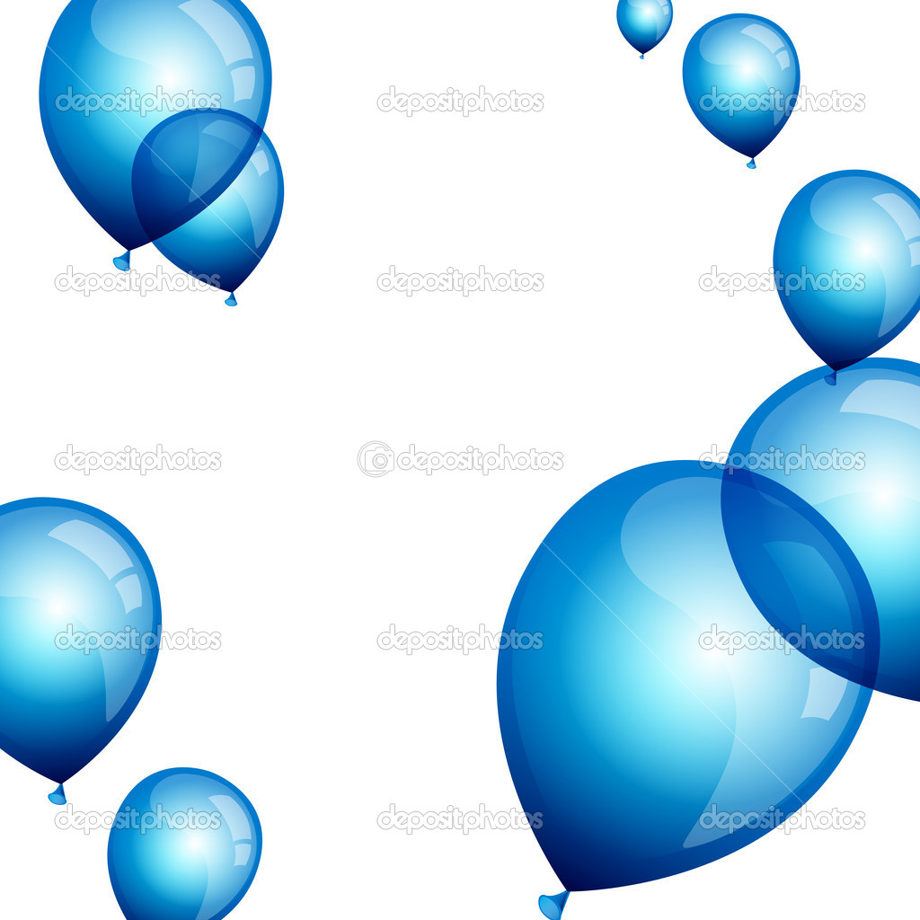 Vector illustration of blue balloons — Stock Vector #11438104