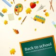 Vector School Background — Stock Vector