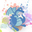 Royalty-Free Stock Vector Image: Blue Vector Dragon