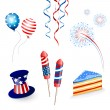 Stock Vector: Vector Independence day background