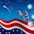 Royalty-Free Stock Vector Image: Vector Independence day background