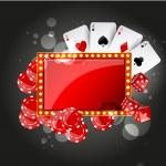 Vector Casino Background — Stock Vector