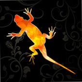 Abstract Vector Lizard — Stock Vector