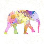 Abstract Vector Elephant — Stock Vector