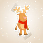 Illustration of a small reindeer — Stock Vector