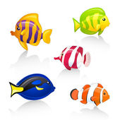 Colorful vector fishes — Stock Vector