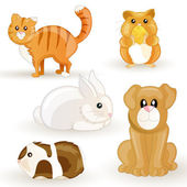 Vector set of cartoon pets — Wektor stockowy