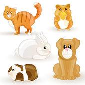 Wektor zestaw kreskówka zwierzęta — Wektor stockowy