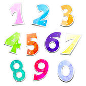 Vector Set of sparkling numbers — Stock Vector