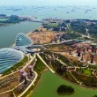 Stock Photo: River Hongbao view from roof top of MarinBay Sands resort,
