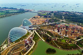 River Hongbao view from the roof top of Marina Bay Sands resort, — Stock Photo